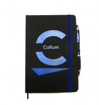 Personalised A5 Lined Notebook PU Leather Journal and Ballpoint Pen